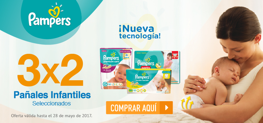 Pampers 3x2 28 de mayo