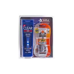 Pack masculino de shampoo y máquina de afeitar