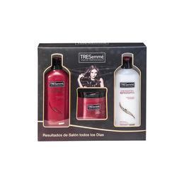 Pack de shampoo, acondicionador y crema de peinar