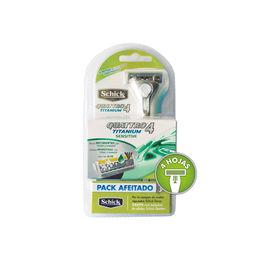 Pack afeitado Schick Quattro Titaniun Sensitive. 43593d2a905c