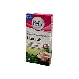 Bandas de cera fria corporales para piel seca 10 Uni