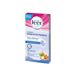Bandas de cera fria corporales para piel sensible 10 Uni