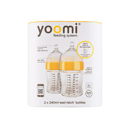 Pack Yoomi Mamadera Easi-Latch 2 Uni de 240ml