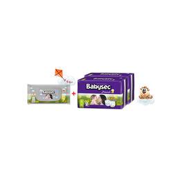 Pack de Pañales Premium y 2 Toallitas Húmedas