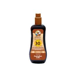 Gel en spray bronceador F30