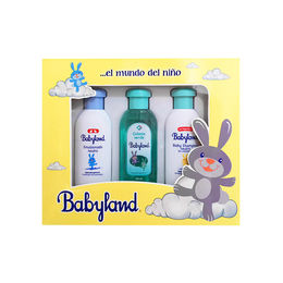 Estuche Simple Babyland Verde (Shampoo, Colonia y Emulsionado)