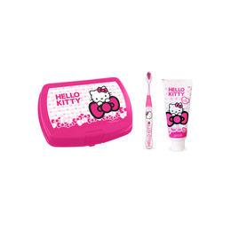 Pack infantil de pasta, cepillo y lonchera de Hello Kitty