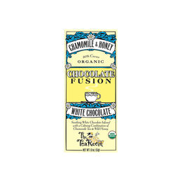 Barra de chocolate orgánico blanco manzanilla y miel