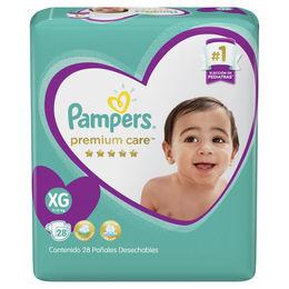 Pañales Premium Care talla XG de 12 a 15 kg.