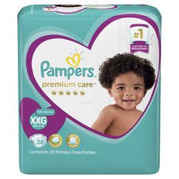 Pañales Premimum Care talla XG para más de 14 kg.