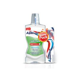 Pack de enjuague bucal y pasta de dientes con triple protección