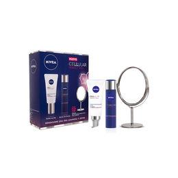 Pack de Tratamiento Facial Anti-Edad Cellular NIVEA Perfect Skin Día 50 ml + Noche 50 ml y Espejo