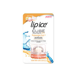 Protector labial formato cubo sabor dulce vainilla FPS15