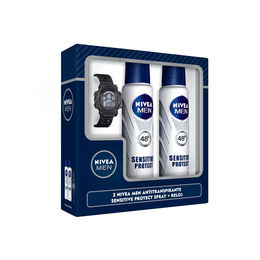 Estuche Antitraspirante Spray Sensitive  y Reloj