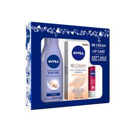 Estuche Crema Body Milk, BB Cream y Lip