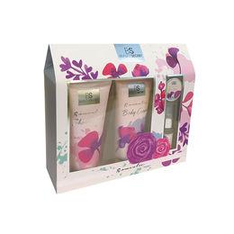 Pack de gel de ducha, crema corporal, brillo de labios y colonia Romantic