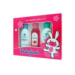 Estuche Simple Babyland Rosa (Shampoo, Colonia y Emulsionado)